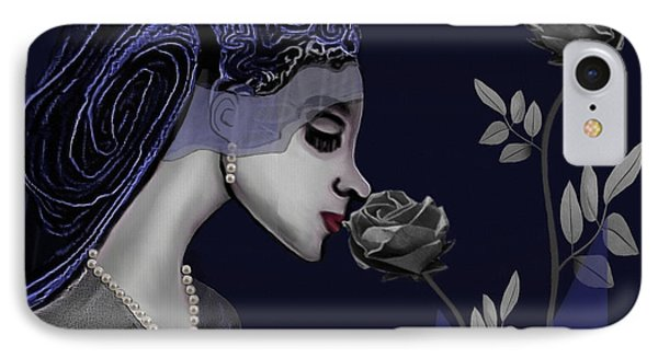 126 - A Young Woman With Roses ... IPhone Case by Irmgard Schoendorf Welch