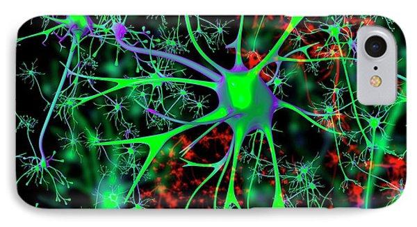 Neuron IPhone Case by Mehau Kulyk