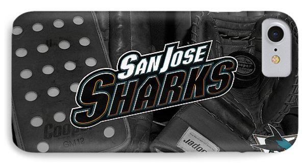 San Jose Sharks IPhone Case by Joe Hamilton