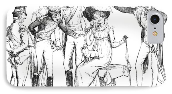 Scene From Pride And Prejudice By Jane Austen Phone Case by Hugh Thomson
