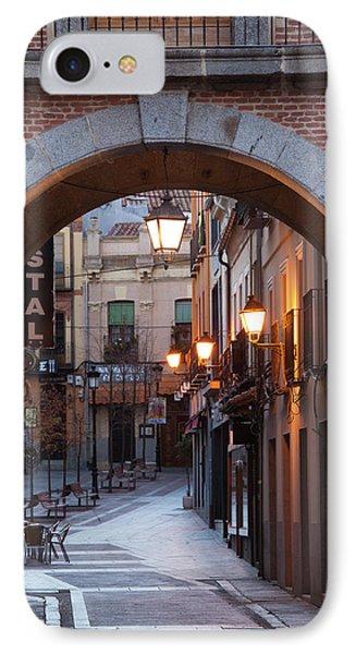 Spain, Castilla Y Leon Region, Avila IPhone Case by Walter Bibikow