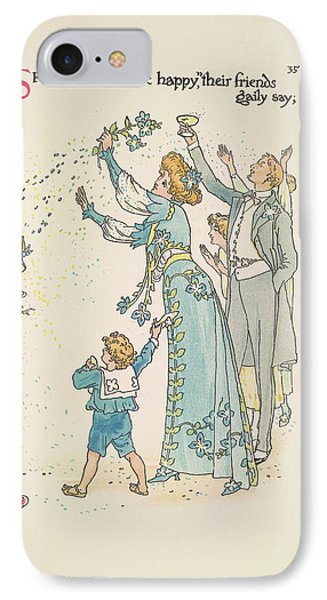 A Flower Wedding IPhone Case by British Library