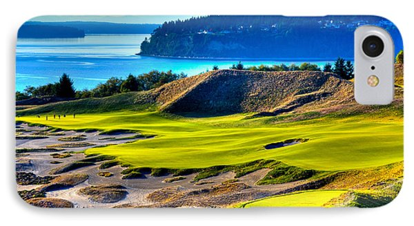 #14 At Chambers Bay Golf Course - Location Of The 2015 U.s. Open Tournament IPhone Case by David Patterson