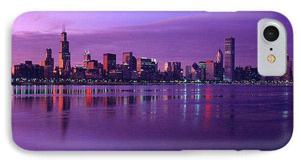 Buildings At The Waterfront Lit IPhone Case by Panoramic Images