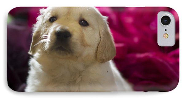 Golden Retriever Puppy Phone Case by Angel  Tarantella