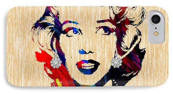 Marilyn Monroe Diamond Earring Collection IPhone 7 Case