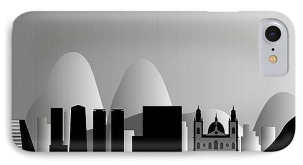Rio De Janeiro Skyline Phone Case by Michal Boubin