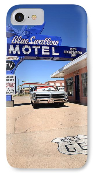 Route 66 - Blue Swallow Motel Phone Case by Frank Romeo