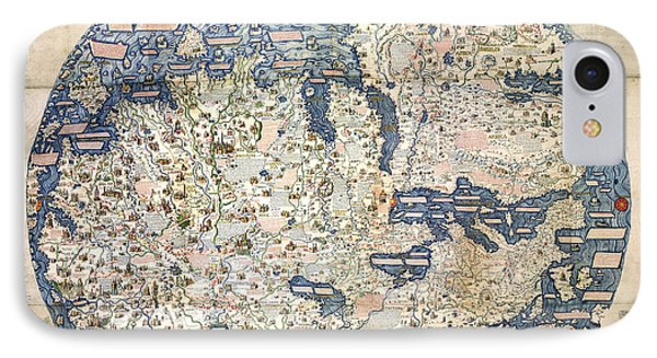 World Map By Fra Mauro - 1458 IPhone Case by Pablo Romero