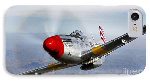 A P-51d Mustang In Flight IPhone Case by Scott Germain