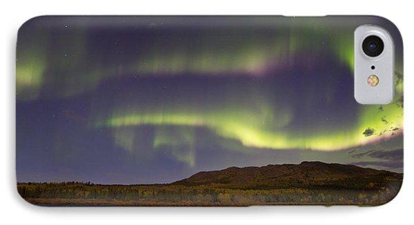 Aurora Borealis With Moonlight At Fish Phone Case by Joseph Bradley