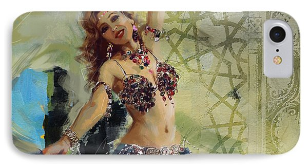 Abstract Belly Dancer 13 IPhone Case by Corporate Art Task Force