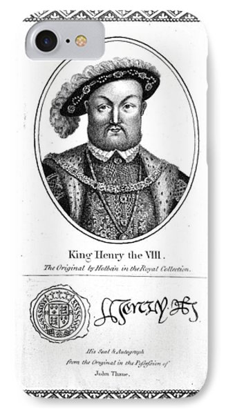 Henry Viii (1491-1547) IPhone Case by Granger