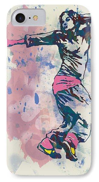 Hip Hop Street Dancing  Pop Stylised Art Poster IPhone Case