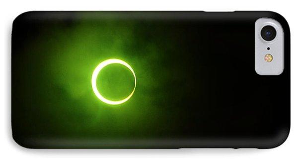 15 January 2010 Solar Eclipse Maldives IPhone Case by Jenny Rainbow