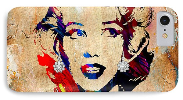 Marilyn Monroe Diamond Earring Collection IPhone Case