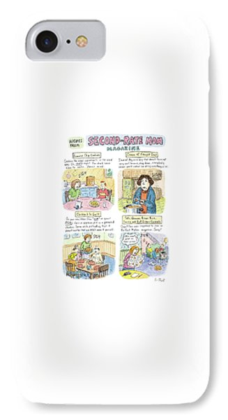 Recipes From Second-rate Mom Magazine IPhone Case by Roz Chast
