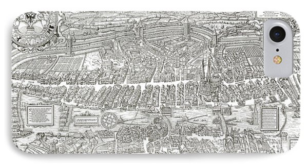 1576 Zurich Switzerland Map Phone Case by Daniel Hagerman