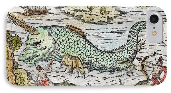 1582 Sawfish Pristis As Sea Unicorn IPhone Case by Paul D Stewart