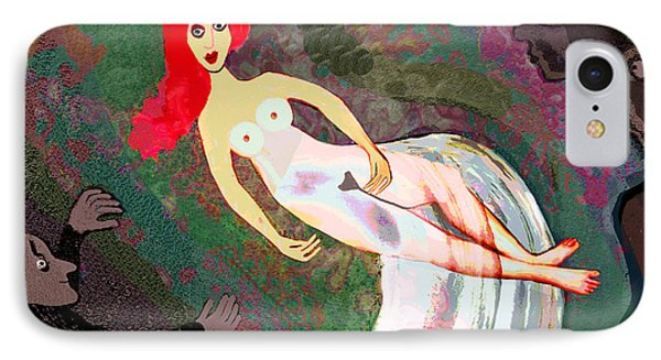 159 -    Lady Exhibitionist .... IPhone Case by Irmgard Schoendorf Welch