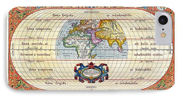 1590 Historical World Rare Map Aevi Veteris Typus Geographicus Phone Case by Karon Melillo DeVega