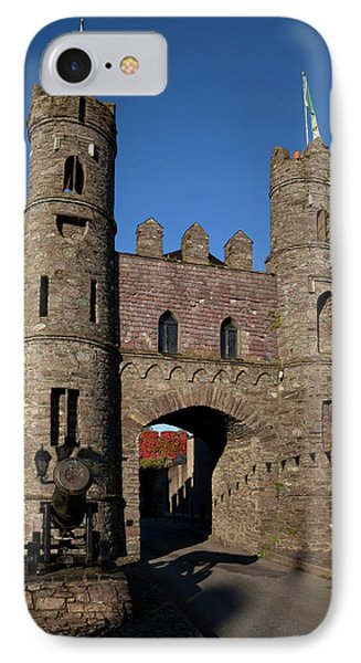 15th Century Castle In The Market IPhone Case by Panoramic Images
