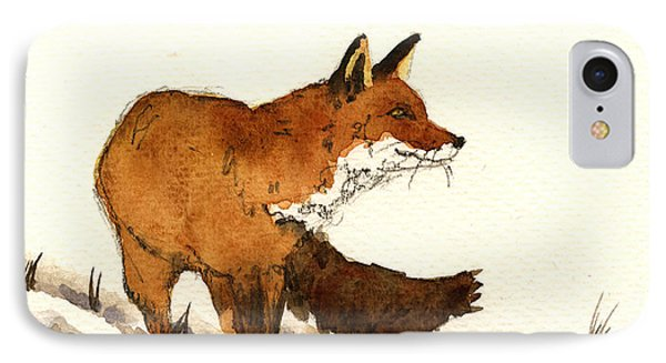 Red Fox IPhone Case by Juan  Bosco