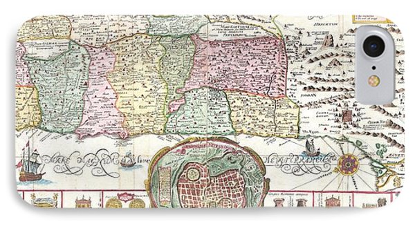 1632 Tirinus Map Of The Holy Land Phone Case by Paul Fearn