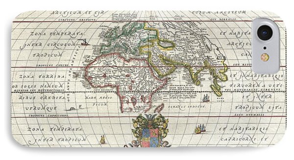 1650 Jansson Map Of The Ancient World Phone Case by Paul Fearn