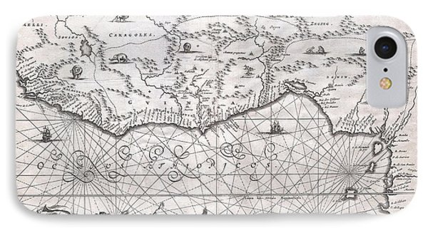 1670 Ogilby Map Of West Africa  Gold Coast Slave Coast Ivory Coast Phone Case by Paul Fearn