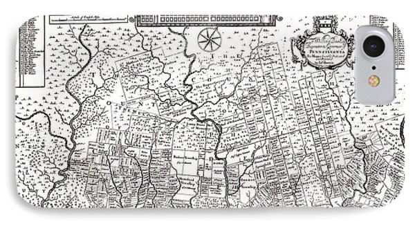 1687 Pennsylvania Map Phone Case by Bill Cannon