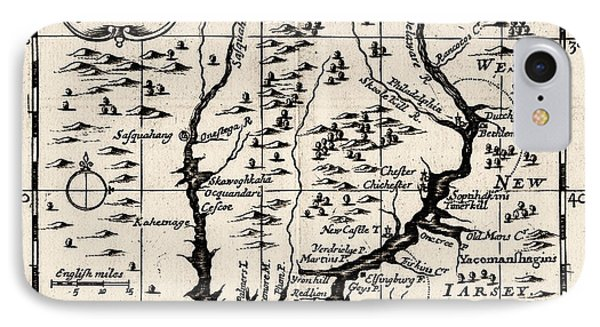 1690 Pennsylvania Map Phone Case by Bill Cannon