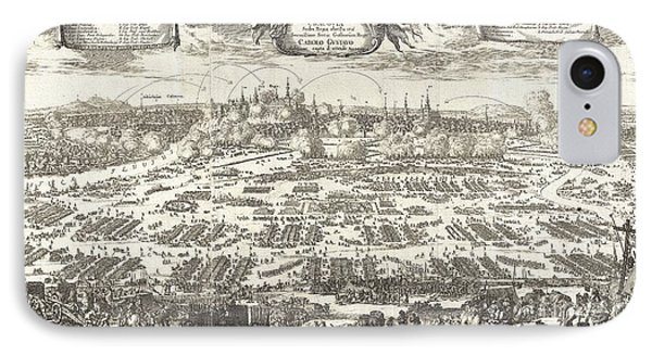 1697 Pufendorf View Of Krakow Cracow Poland IPhone Case by Paul Fearn