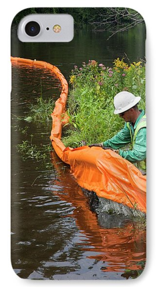 Oil Spill Cleanup IPhone Case by Jim West
