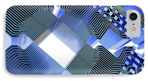 Quantum Computer IPhone Case by Alfred Pasieka