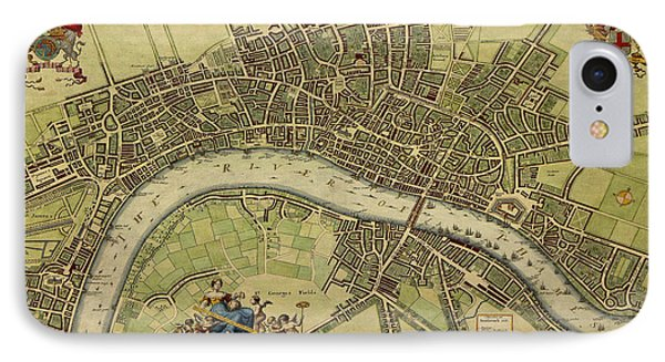 17 Th Century Map Of London England IPhone Case