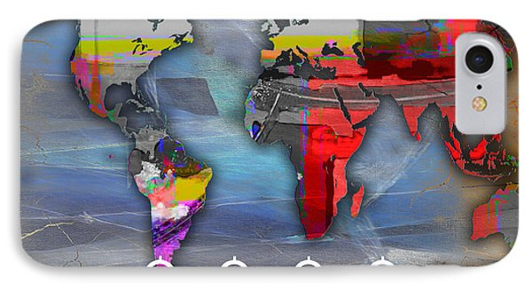 World Map Watercolor IPhone Case by Marvin Blaine