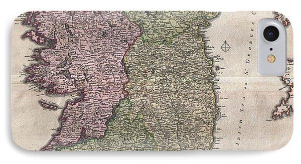 1716 Homann Map Of Ireland Phone Case by Paul Fearn