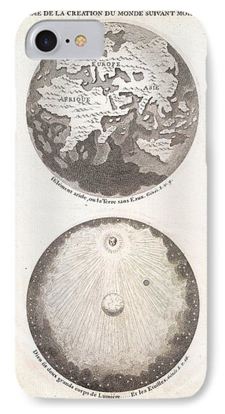 1728 Calmet Map Of The Ancient World Showing The Creation Of The Universe Geographicus Ancientworld  IPhone Case