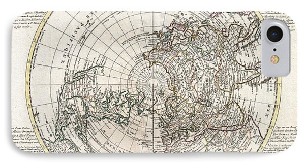 1741 Covens And Mortier Map Of The Northern Hemisphere  North Pole Arctic IPhone Case