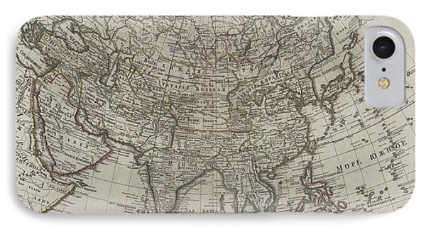 1745 Asia Map IPhone Case by Dan Sproul