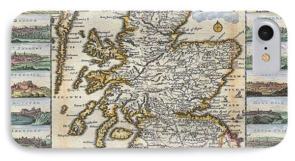 1747 La Feuille Map Of Scotland  IPhone Case by Paul Fearn