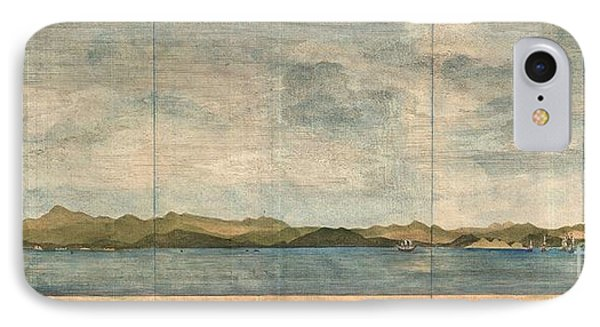 1748 Anson View Of Zihuatanejo Harbor Mexico IPhone Case by Paul Fearn