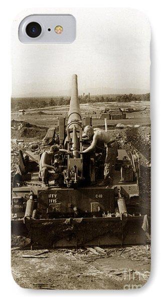 175mm Self Propelled Gun C 10 7-15th Field Artillery Vietnam 1968 IPhone Case by California Views Mr Pat Hathaway Archives