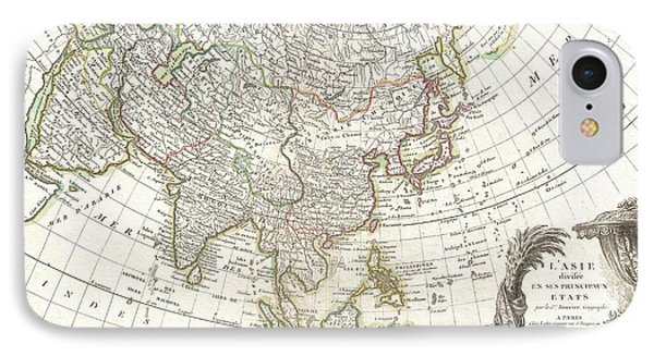 1770 Janvier Map Of Asia Phone Case by Paul Fearn