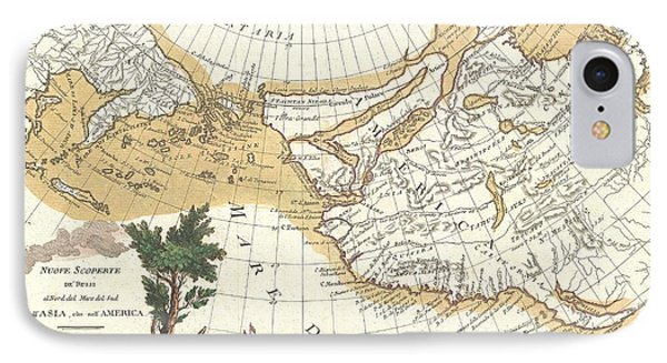 1776 Zatta Map Of California And The Western Parts Of North America IPhone Case by Paul Fearn