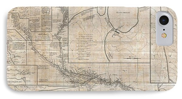 1784 Tiefenthaler Map Of The Ganges And Ghaghara Rivers India Phone Case by Paul Fearn