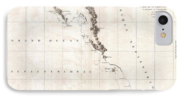 1786 La Perouse Map Of Vancouver And British Columbia Canada IPhone Case by Paul Fearn