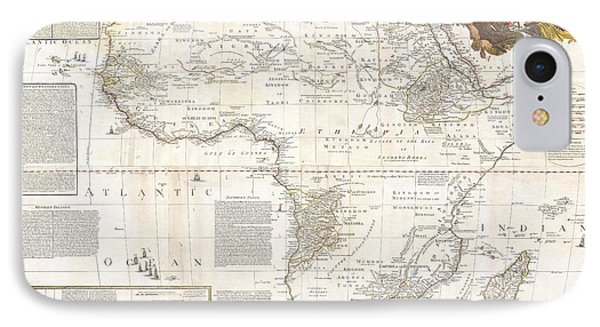 1787 Boulton  Sayer Wall Map Of Africa IPhone Case by Paul Fearn