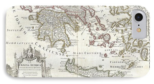 1794 Delisle Map Of Southern Ancient Greece Greeks Isles And Crete IPhone Case